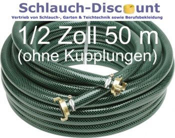 1 2 zoll 50 m wasserschlauch gartenschlauch kreuzgewebe schlauch discount. Black Bedroom Furniture Sets. Home Design Ideas